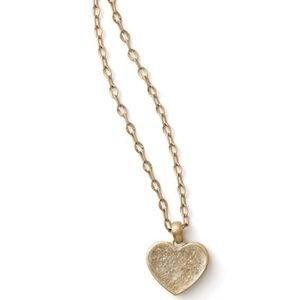 Lia Sophia Gold Druzy Heart Pendent Necklace